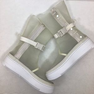Nike Air Force 1 AF1 Sage HI LX Clear Boots Shoes